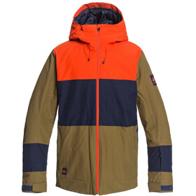 Quiksilver Sycamore Snowboard Jas Heren, military olive